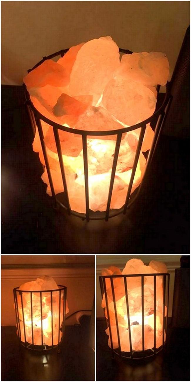 DIY Fire Bowl Shaped Salt Lamp
