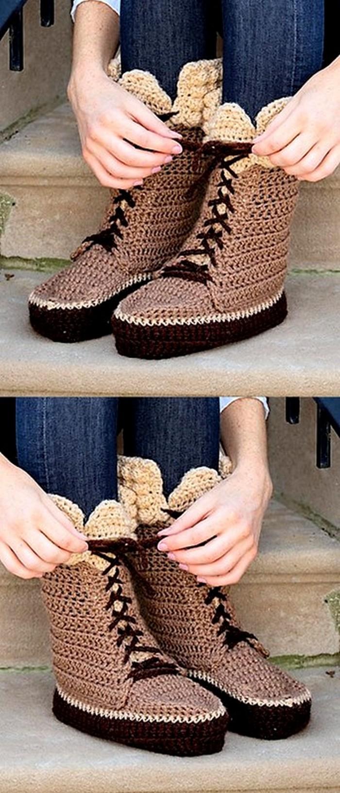 Swiss Miss Slippers Crochet Pattern