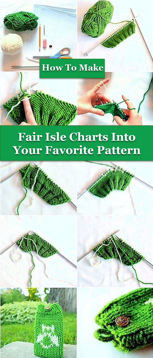 Fair Isle Charts Into Your Favorite Pattern