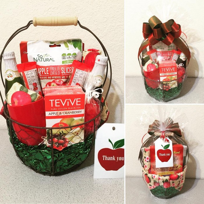 lovely gift basket to say thank you