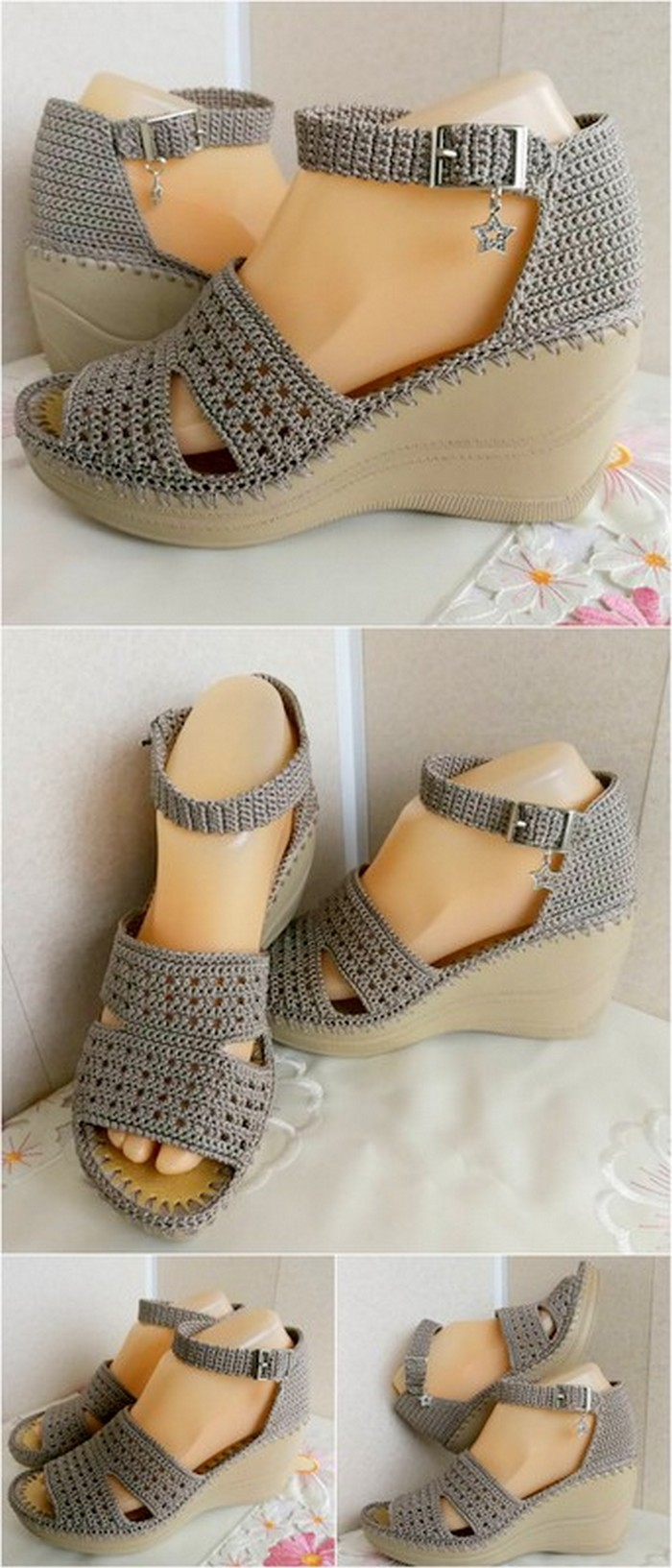 interesting crochet shoes design