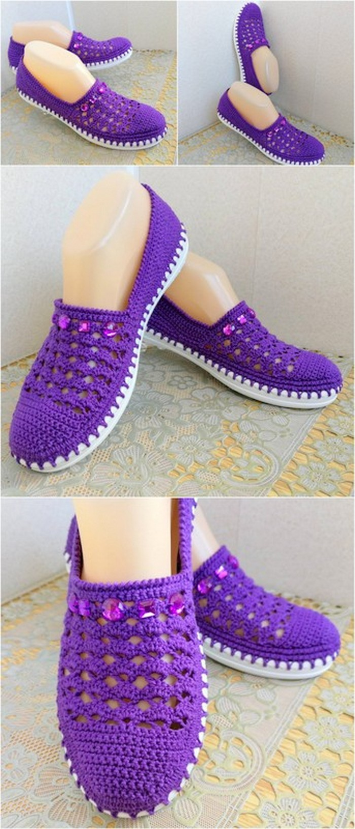Comfortable crochet shoes design