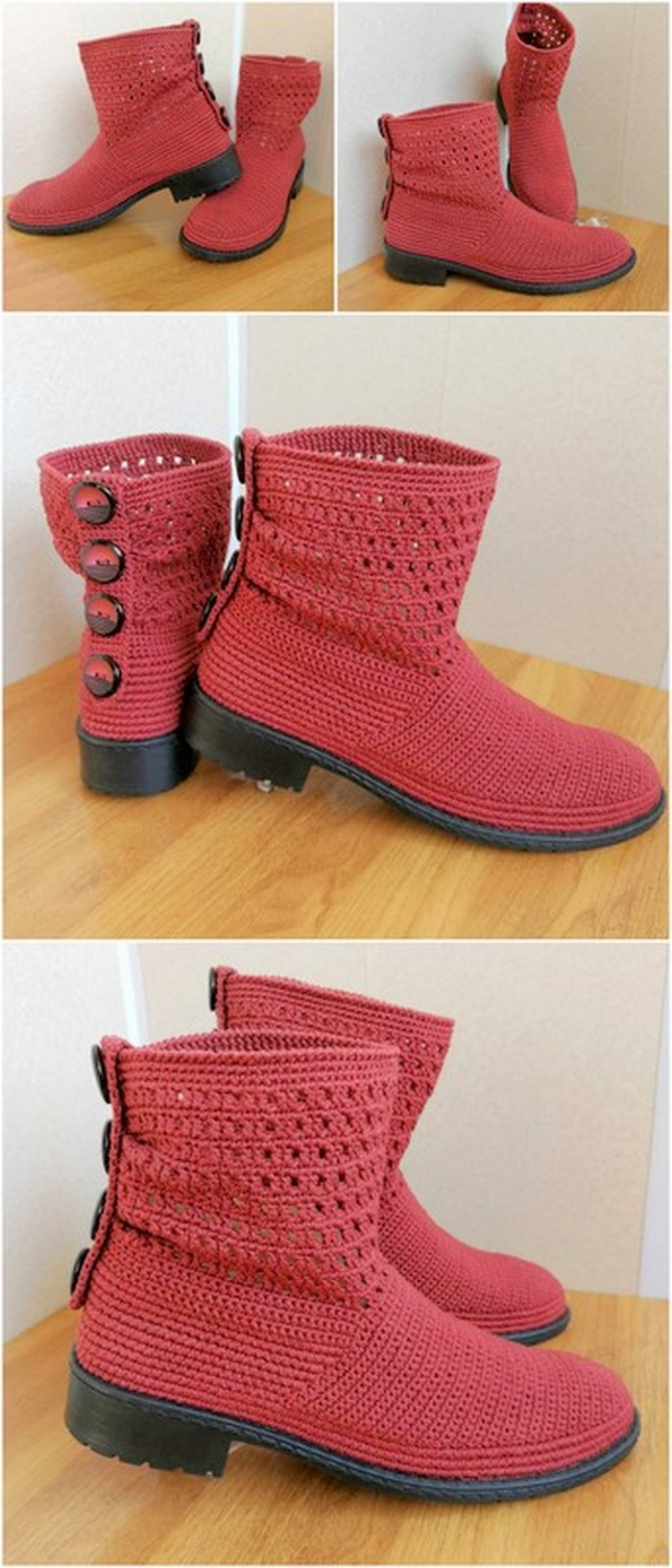 colorful crochet shoes design
