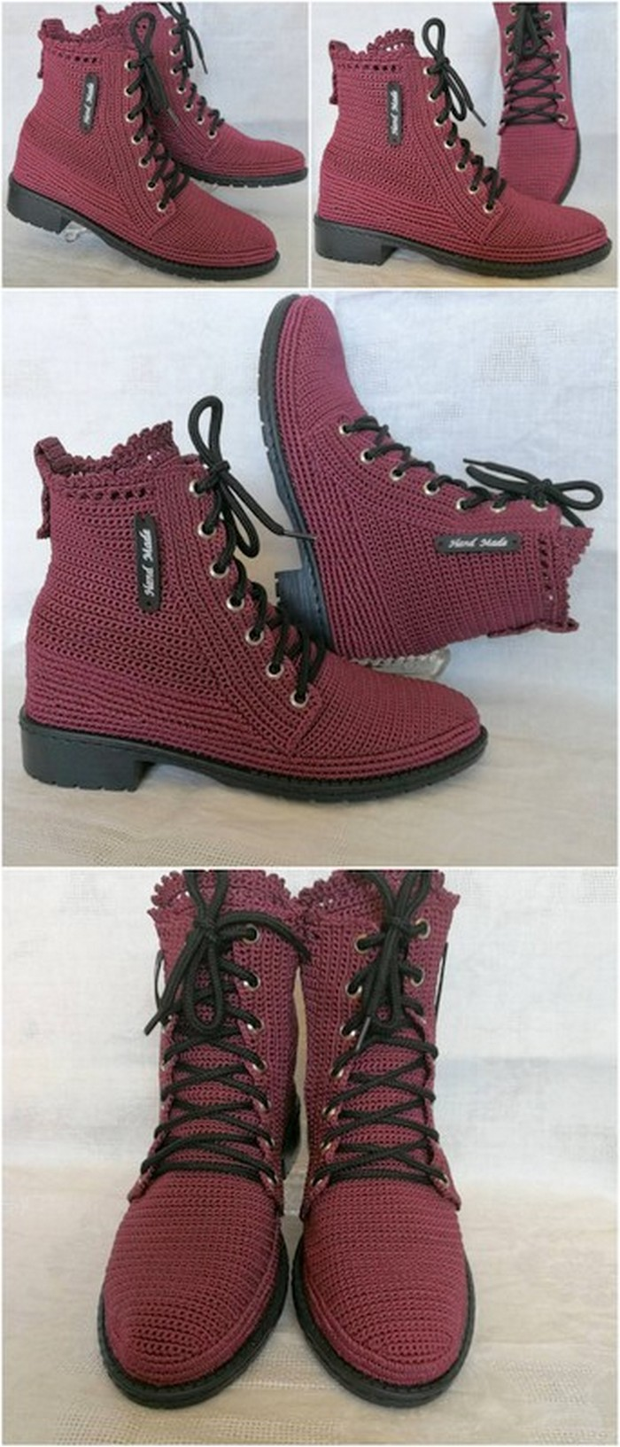 graceful crochet shoes project
