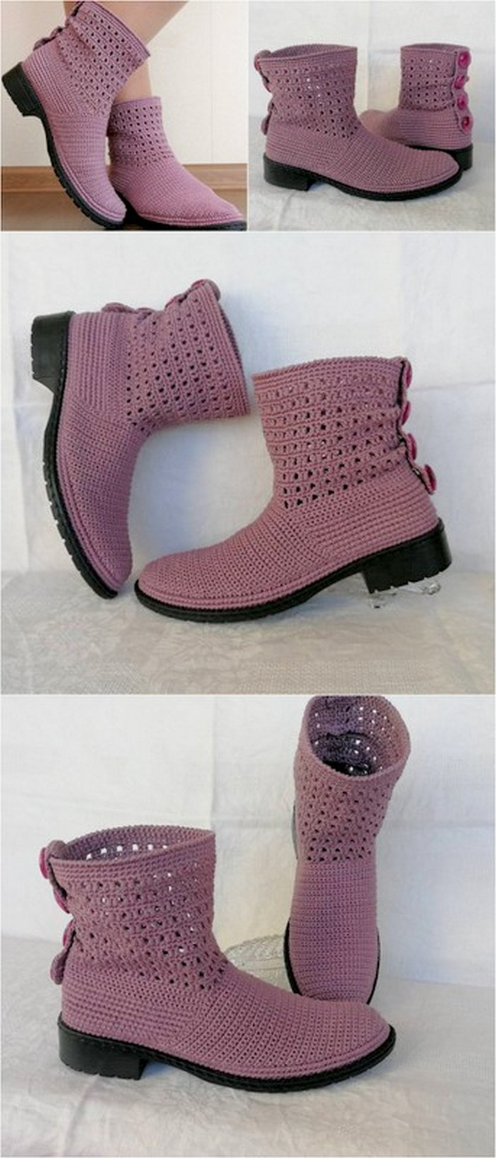 fabulous crochet shoes design