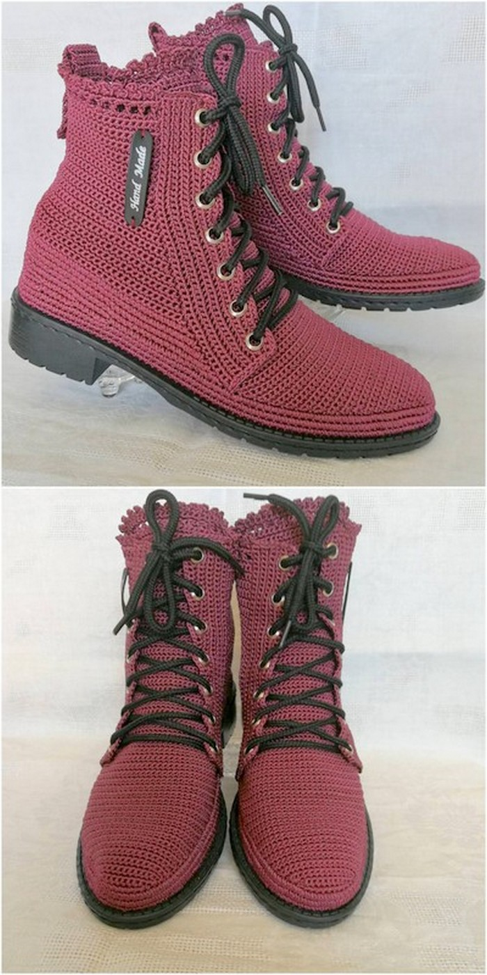 unique crochet shoes idea