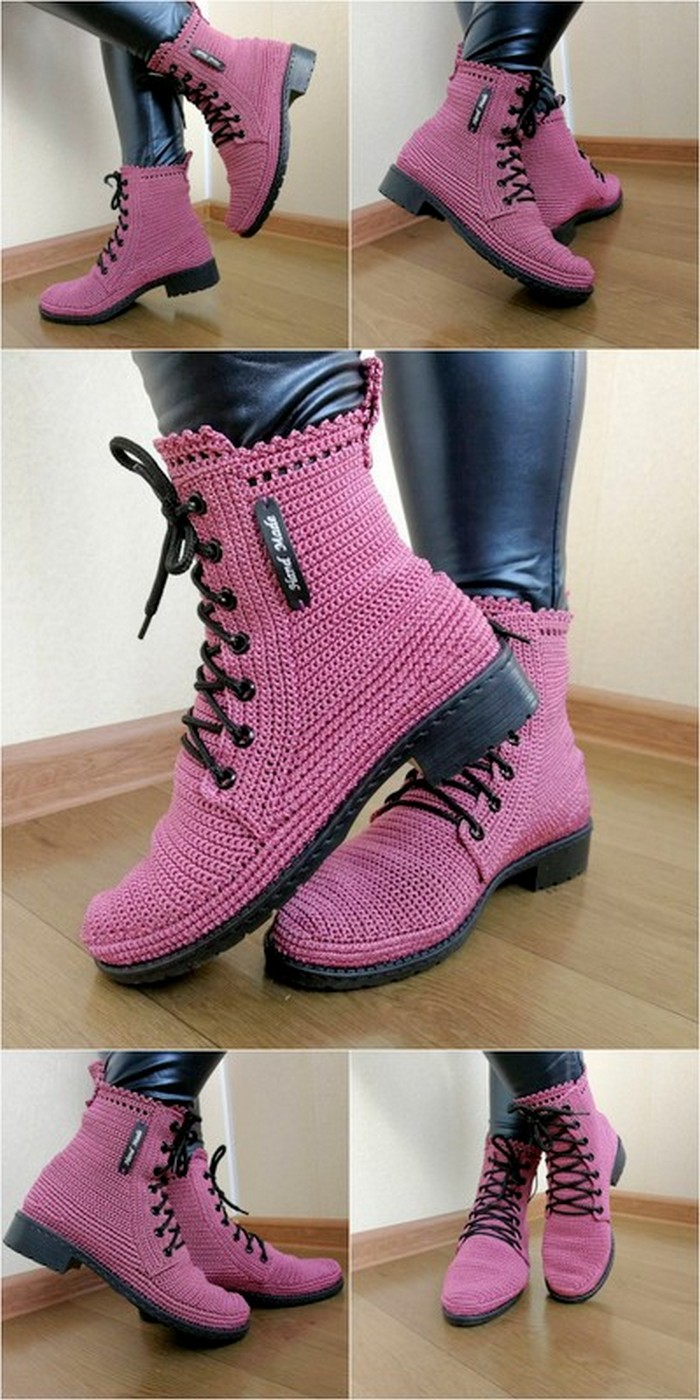 eye-catching crochet shoes idea