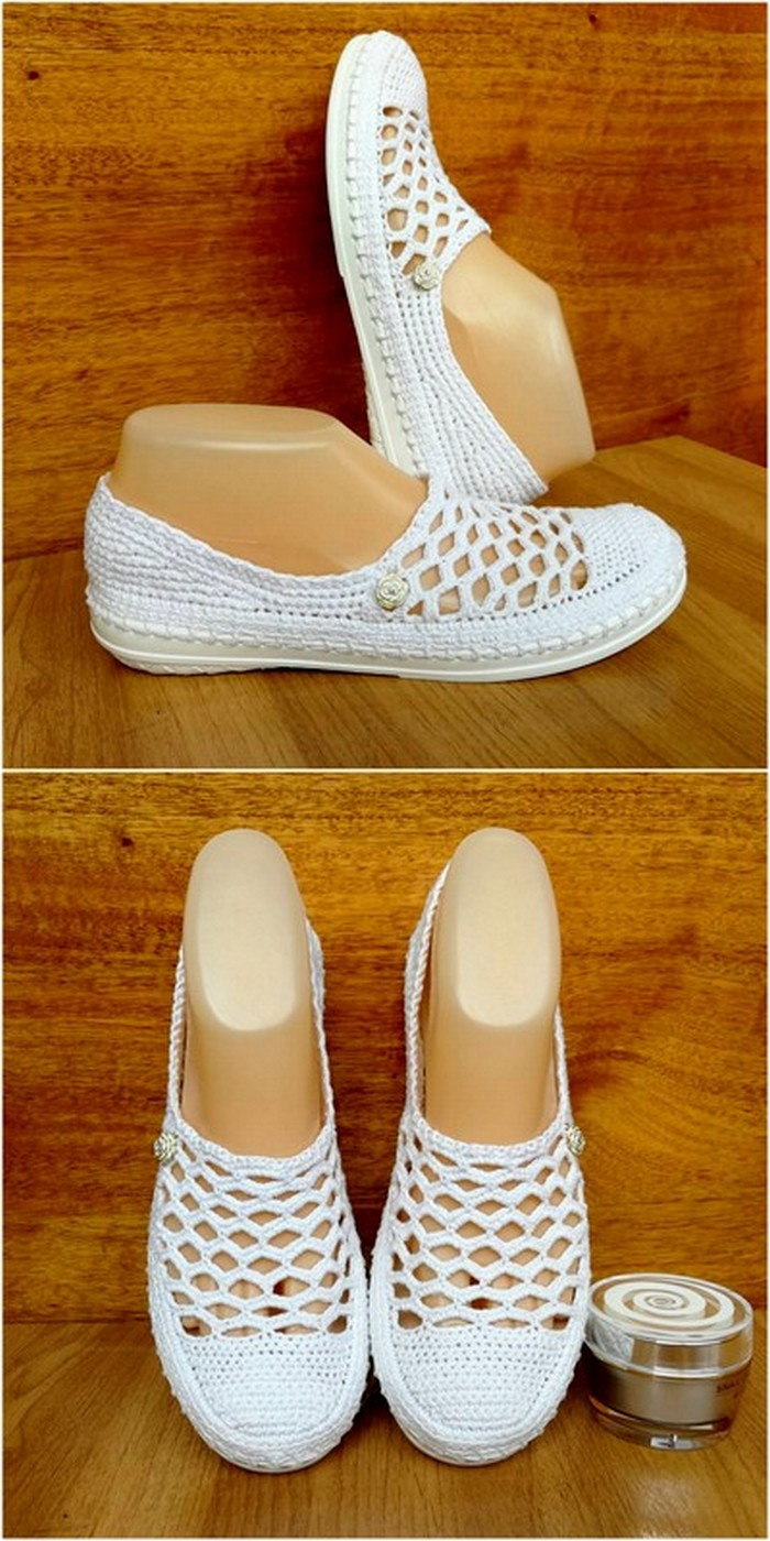 latest crochet shoes design