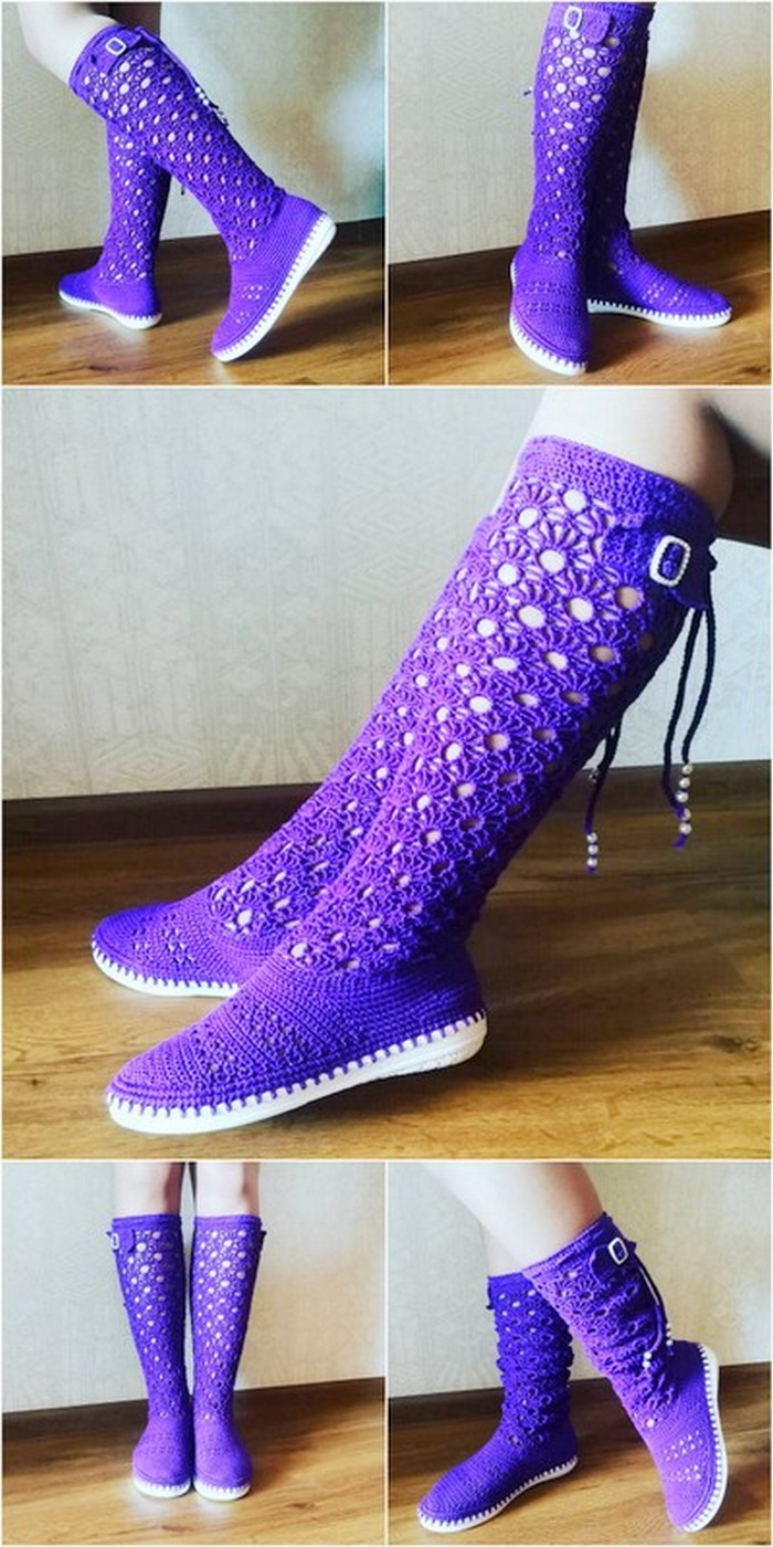 appealing crochet shoes design