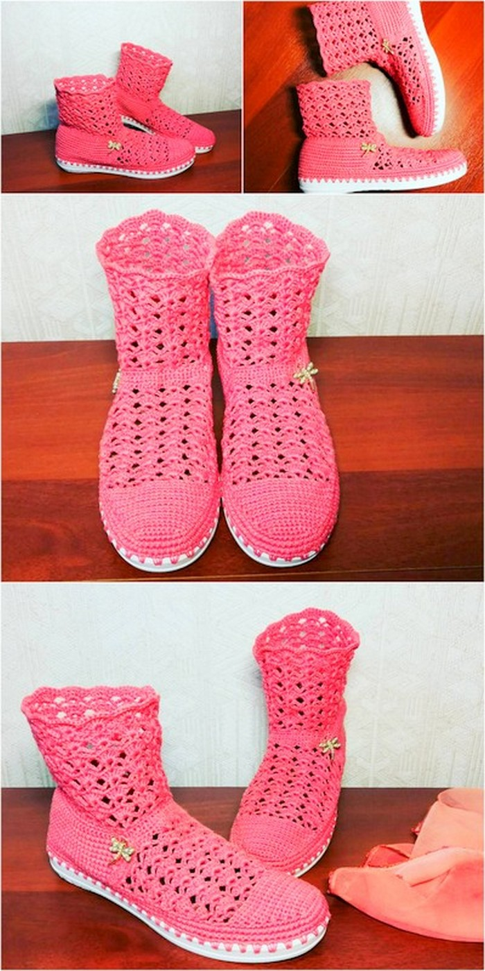 graceful crochet shoes for you