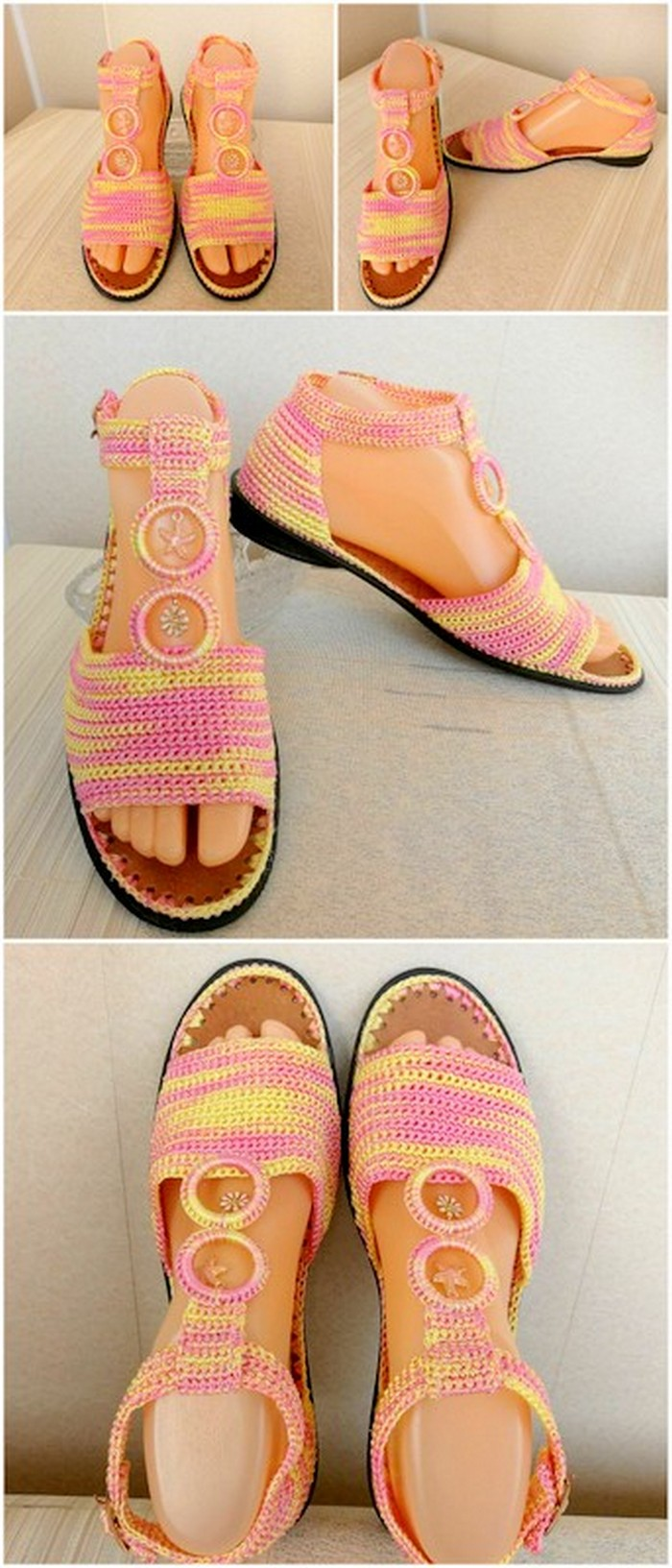 amazing crochet shoes design