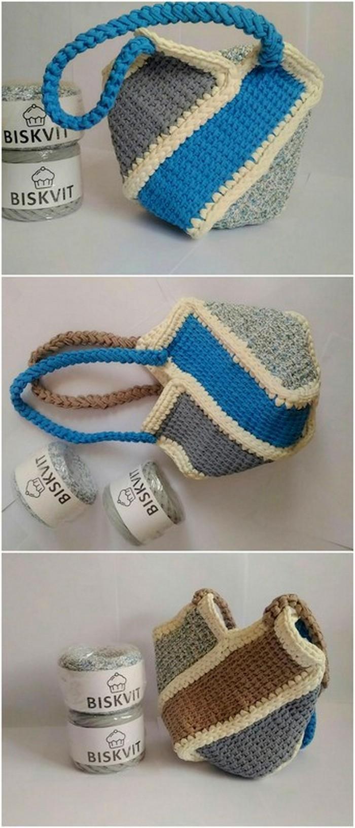 latest crochet handbag idea