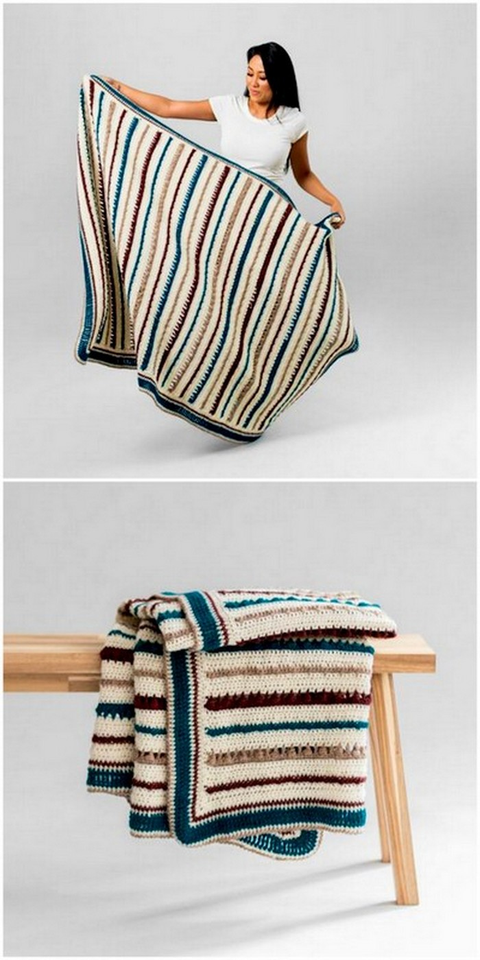 wonderful looking crochet blanket design