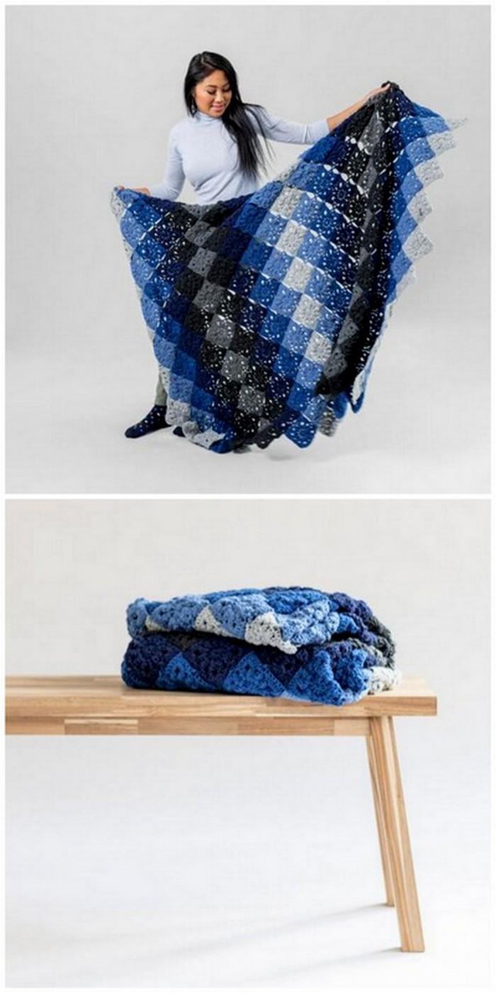 unique crochet blanket design