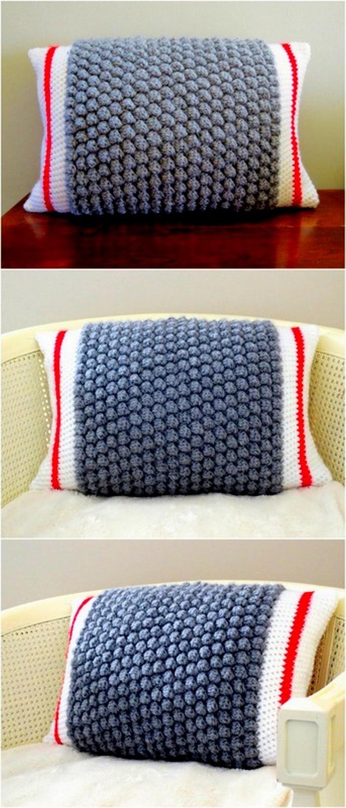 delicate crochet pillow cover