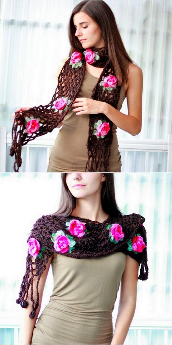 beautiful crochet scarf design