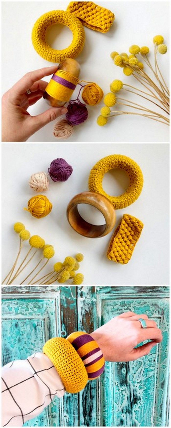 delicate crochet idea for bangle and band