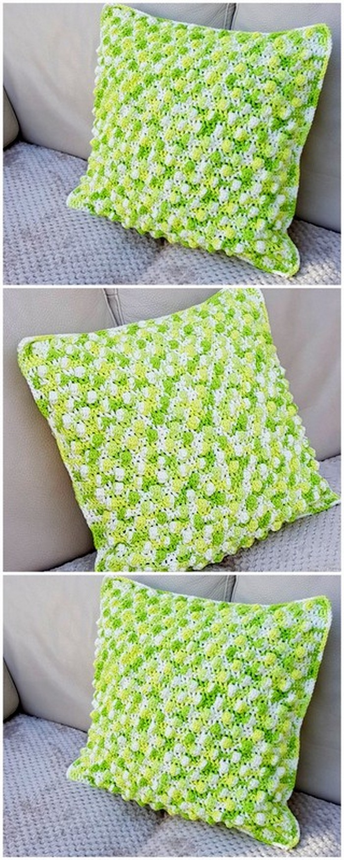 brilliant crochet pattern for cushion cover