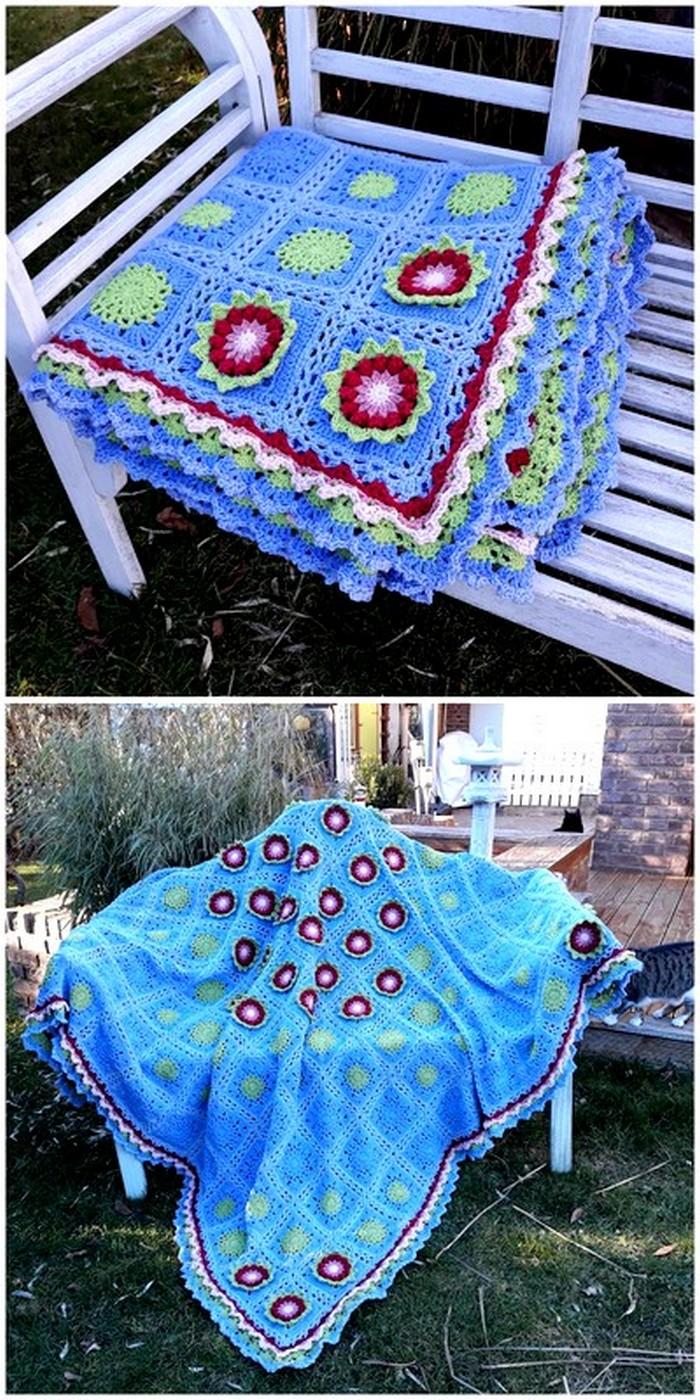 shining crochet blanket pattern
