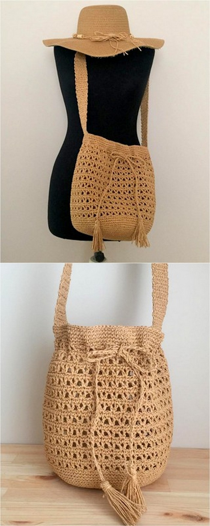 stylish crochet pattern for hat and bag