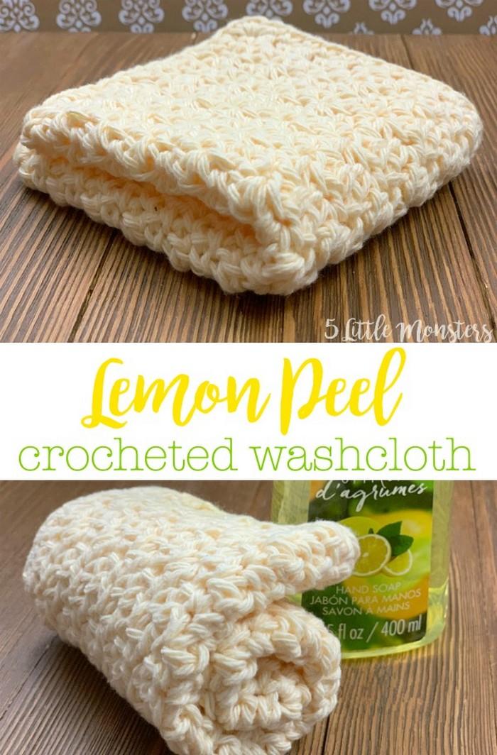 Crochet Lemon Peel Washcloth