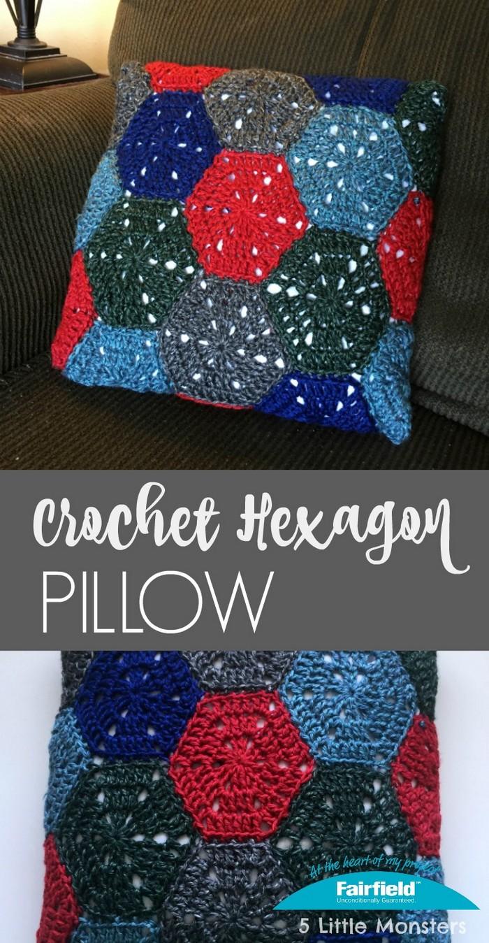 Crochet Hexagons Pillow