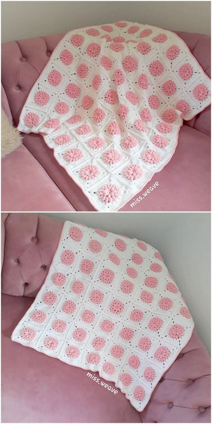 Simple Sofa Cover Free Crochet Pattern