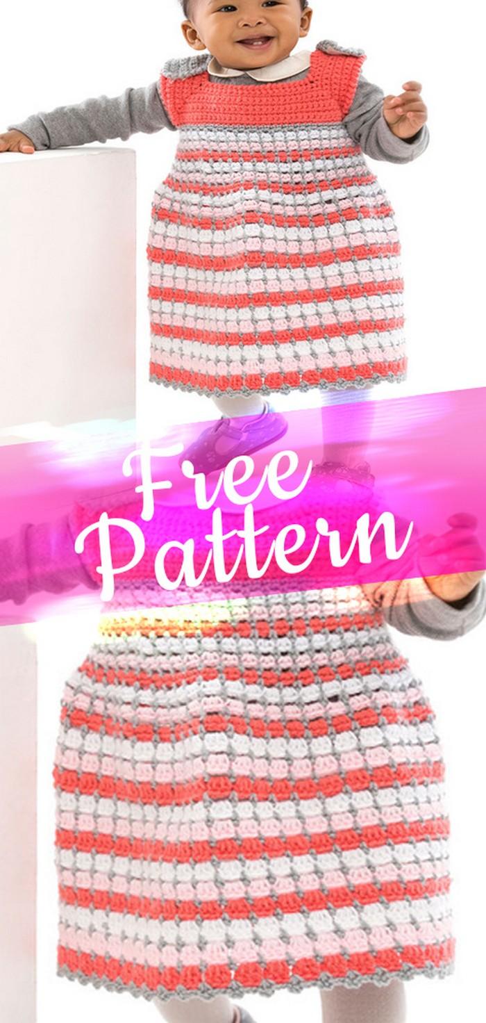 Baby Frock Free Crochet pattern