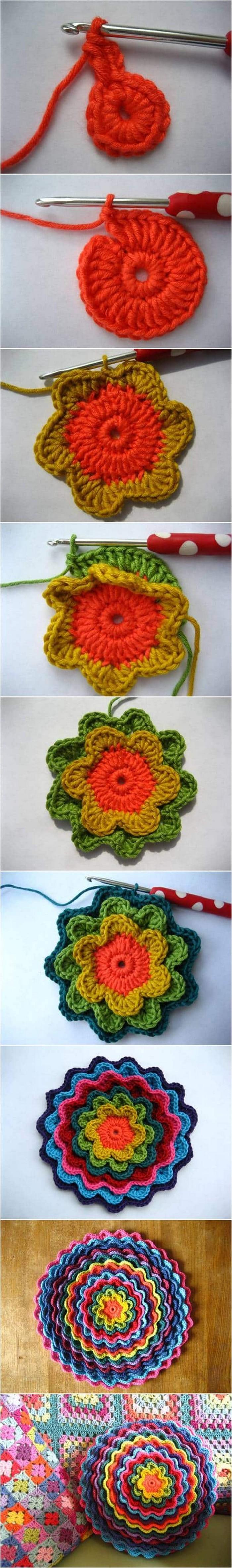 Simple Flower Free Crochet Pattern