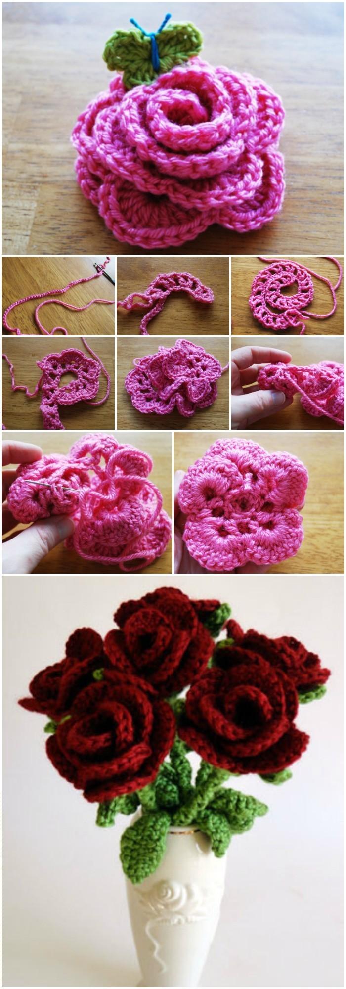 Vase flowers Free Crochet Pattern