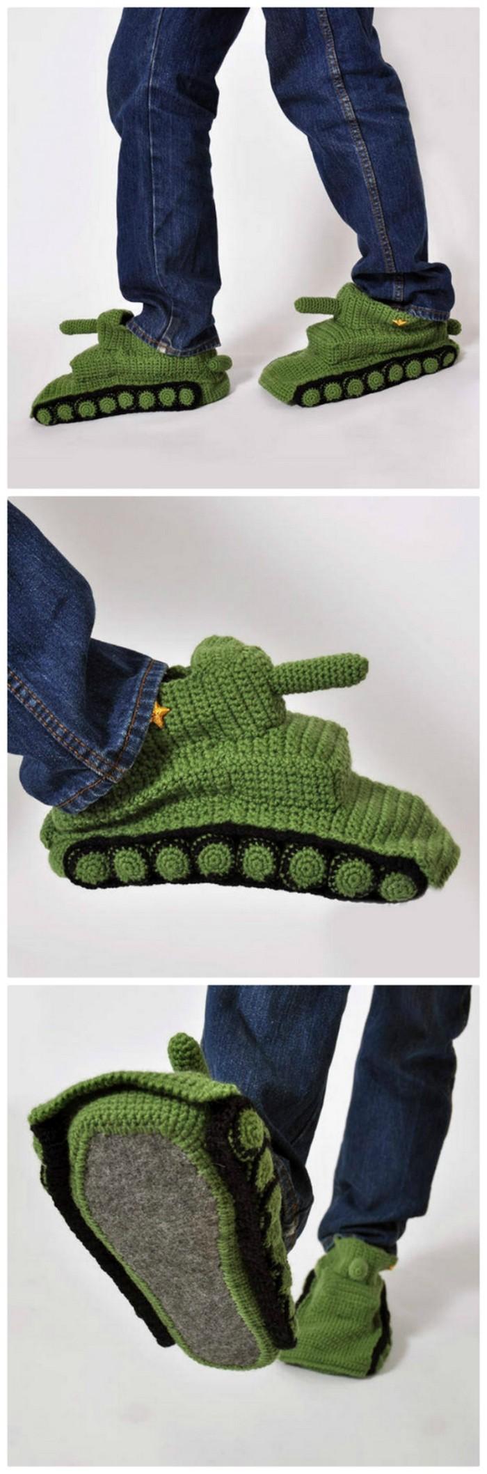 Army Tank Shoes Crochet Free Pattern