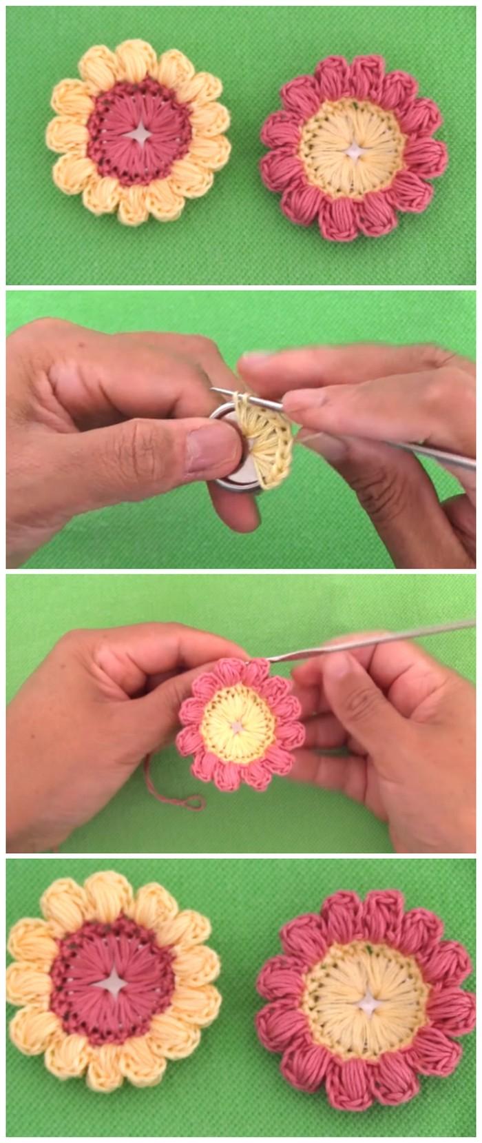 Sun Flower Design Free Crochet Pattern