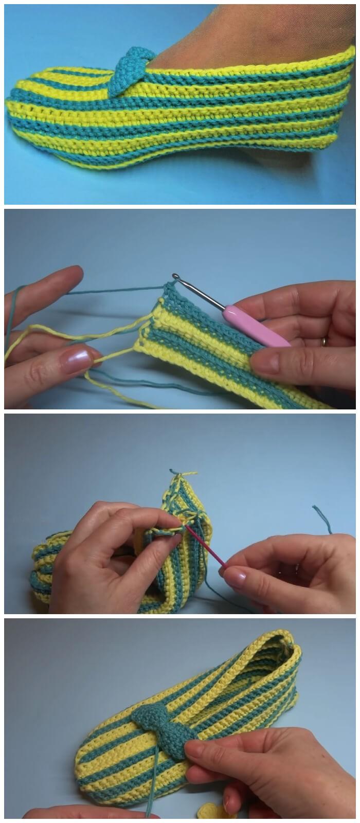 Winter Soft Slippers Free Crochet Pattern