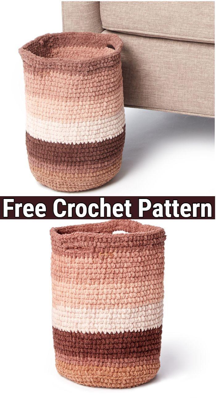 Ling basket Free Crochet pattern