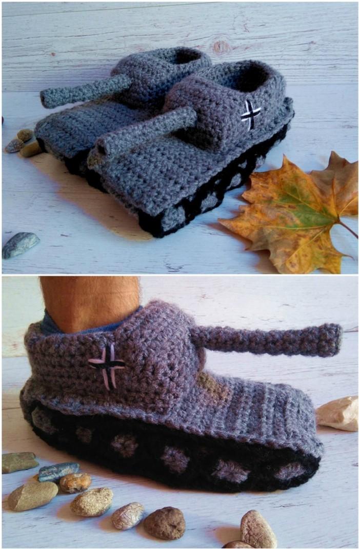 Tank Shoes Free Crochet Pattern