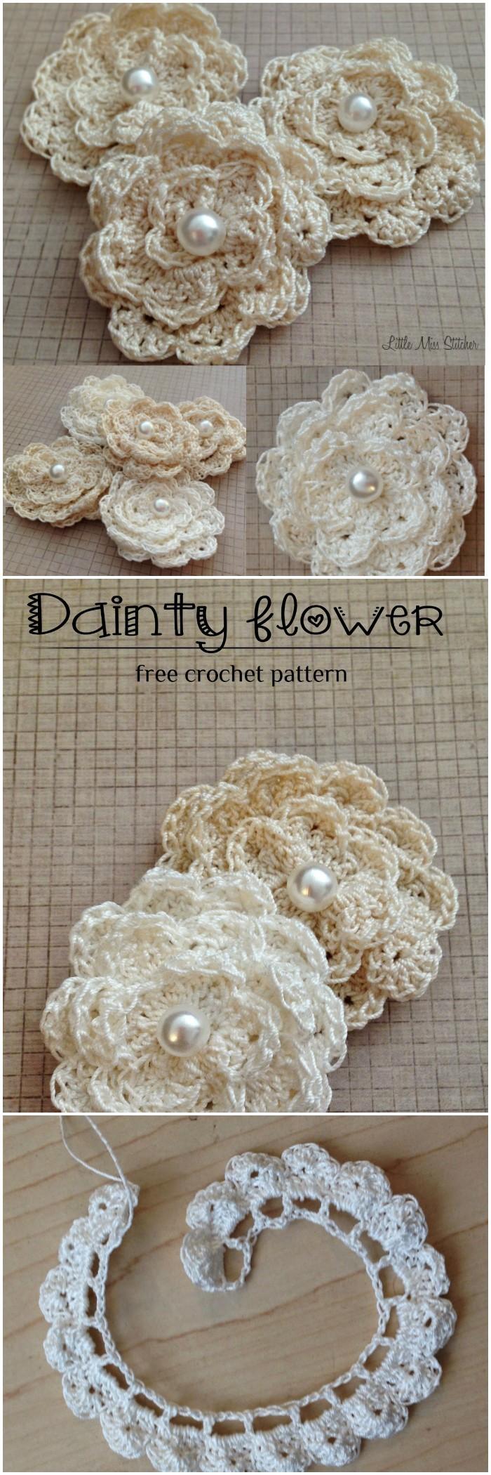 Dainty Flowers Free Crochet Pattern