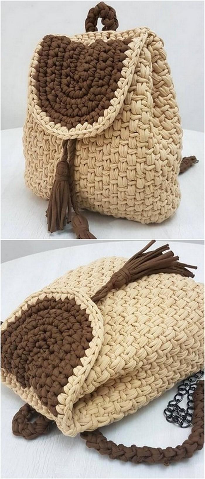 Beautiful Sack Pack Free Crochet Pattern