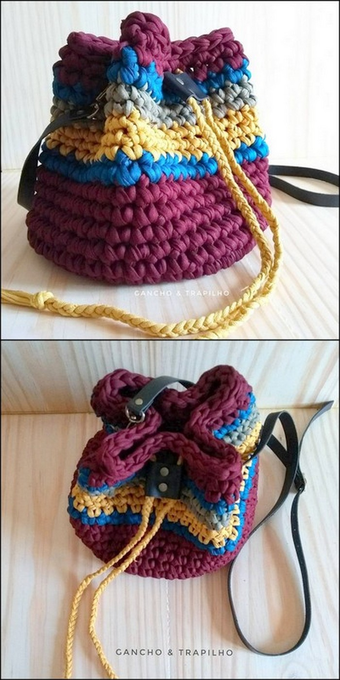 Thick Design Sackpack Free Crochet Pattern