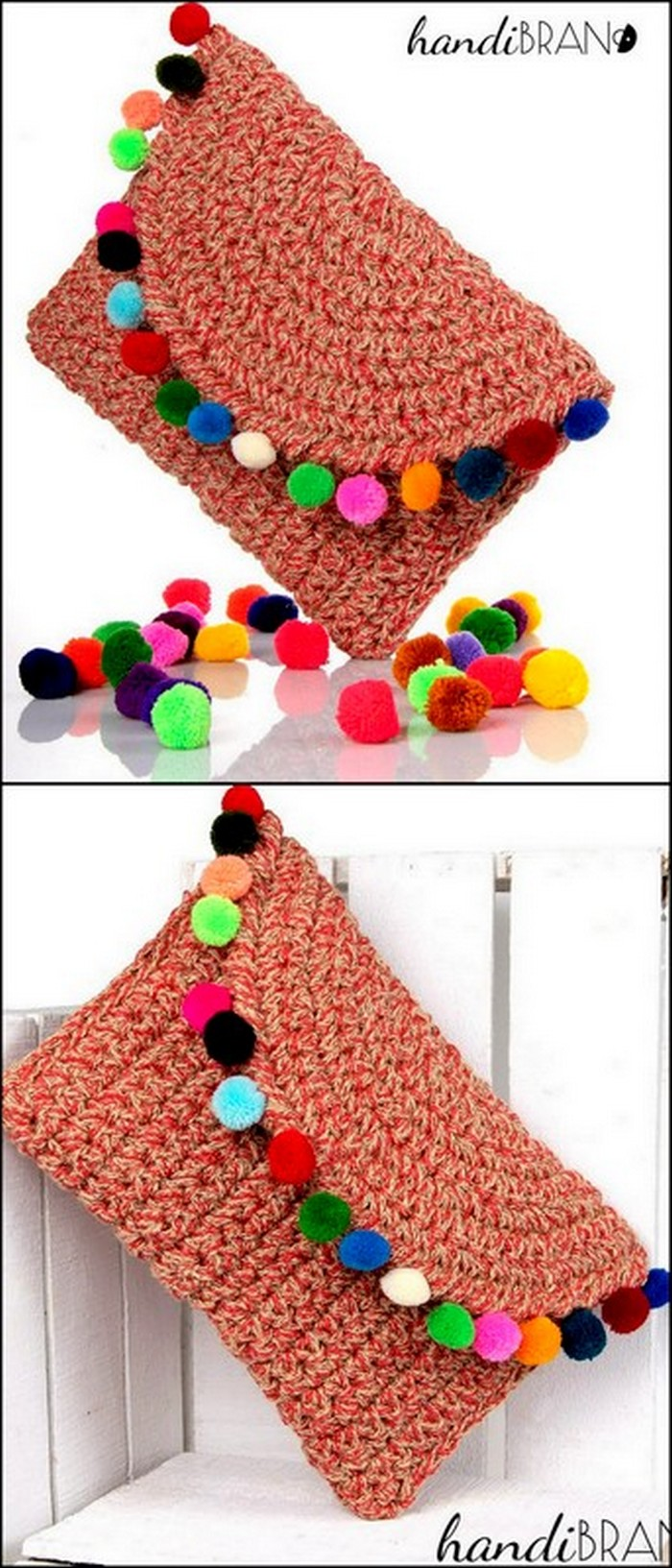 Curved Pouch Free Crochet Pattern