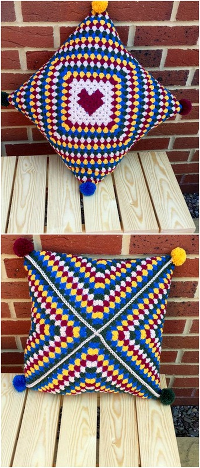 Stylish Pillow Free Crochet Pattern