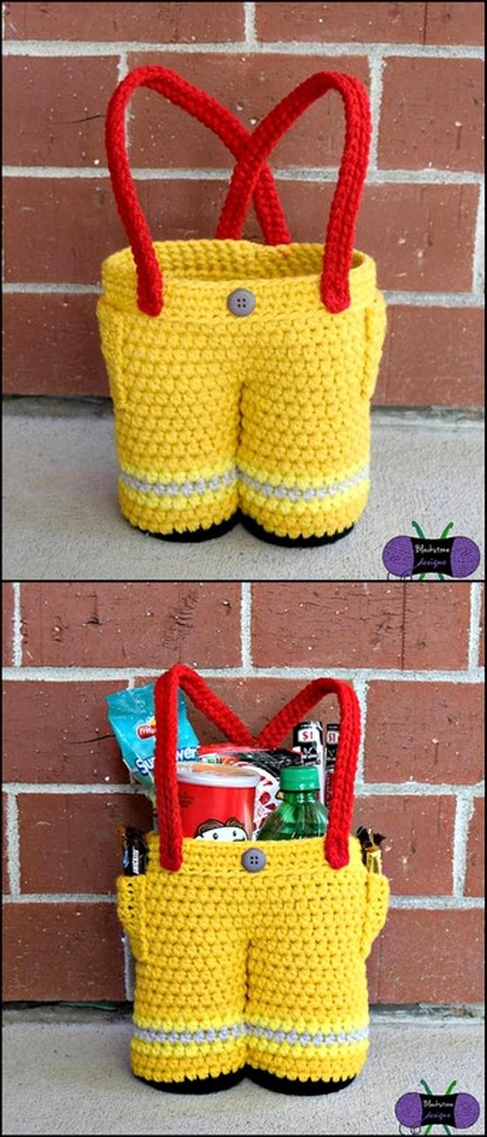 Legs Shap Bag Free Crochet Pattern