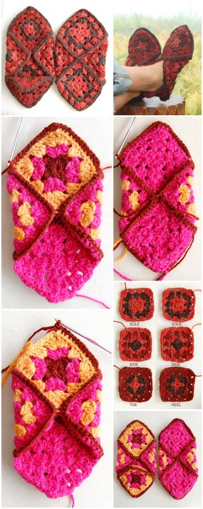 Traditional Slippers Free Crochet Pattern