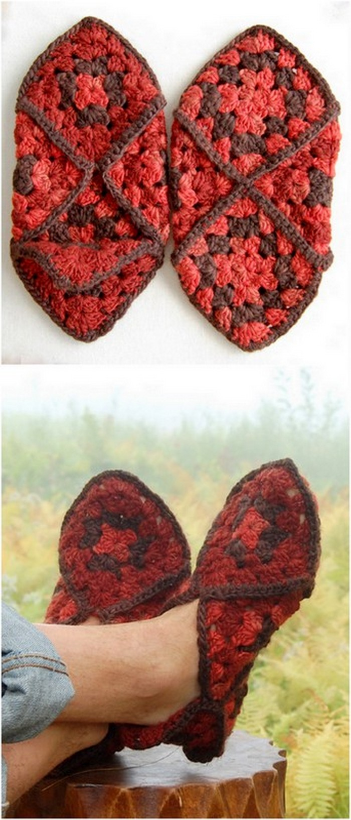 Easy And Fast Slippers Free Crochet Pattern.