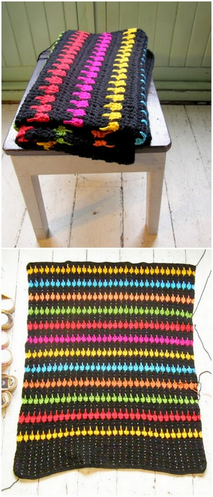 Door Mat Free Crochet Pattern.