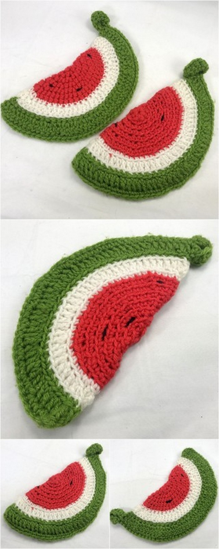 Watermelon Slice Free Crochet Pattern.