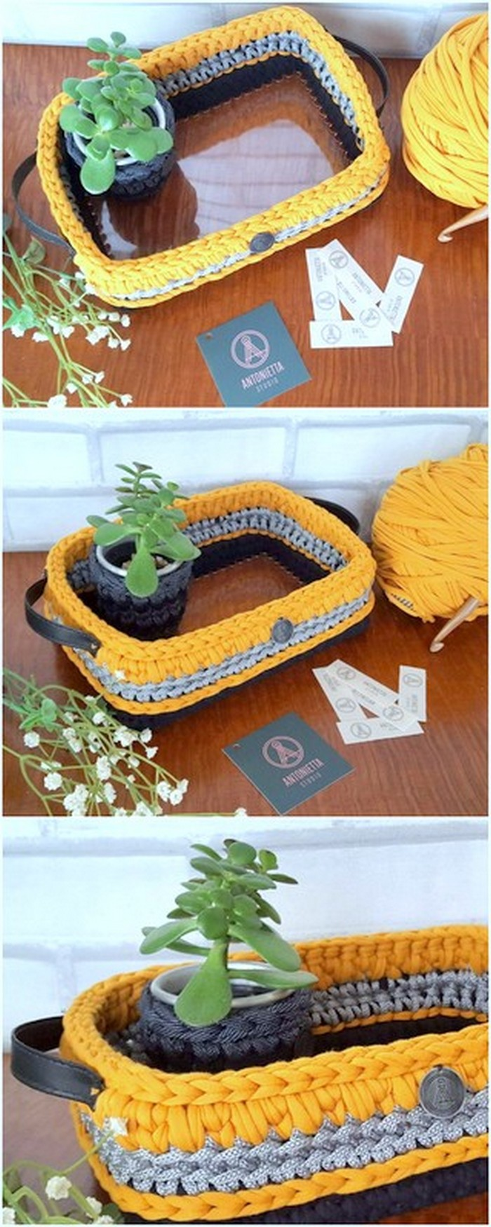 Unique and attractive crochet basket free pattern