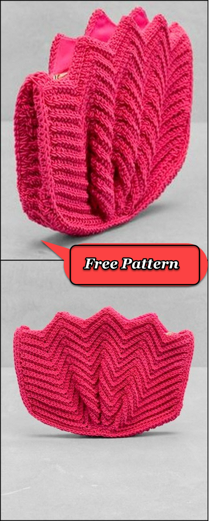 Nice and easy flower pattern pouch crochet free pattern