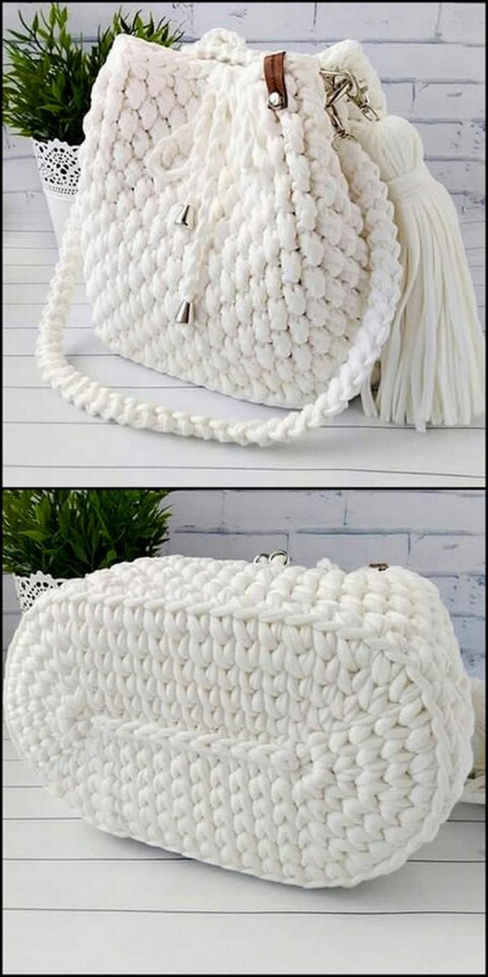 Snow White Bag Free Crochet Pattern