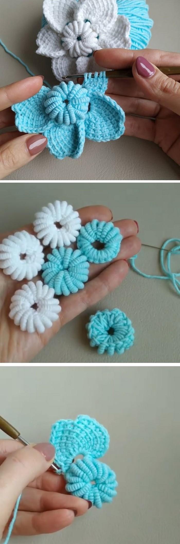 Multi step Flower Free Crochet Pattern