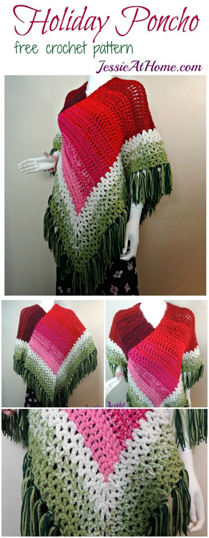 Stylish Poncho Free Crochet Pattern